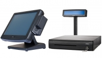 "POS-комплект 12"" KS-7212 [USB touch, бескулерный, черный], SD-566W, FPrint-5200K, Windows POSReady 2009"