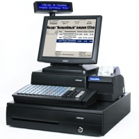 "POS-комплект 15"" KS-7215 [USB touch, бескулерный, черный], SD-400Z, FPrint-5200K, Windows POSReady 2009"