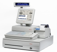 "POS-комплект 15"" KS-6715 [USB touch, бескулерный, черный], SD-400Z, FPrint-5200K, Windows POSReady 2009"